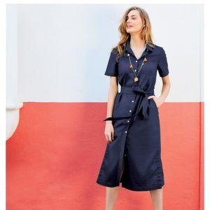 NWOT Boden Navy Shirt Dress